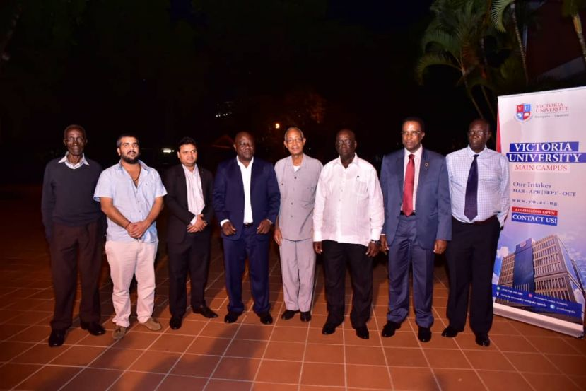 Minister Bagire, VU officials at the launch of the CILT progras at Kabira Country Club
