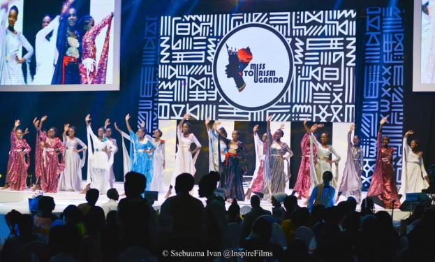 Contestants presenting at the pageant crowning
