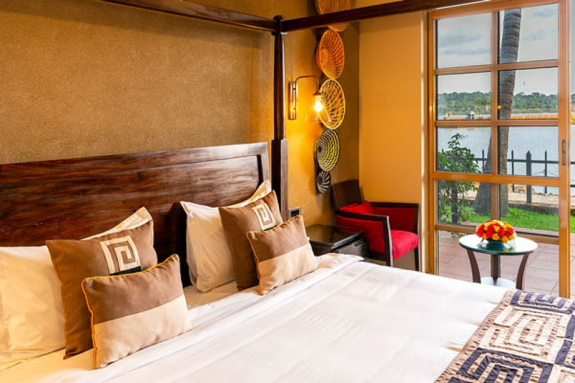 A deluxe room at Speke Resort