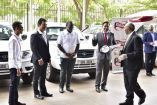 Ruparelia Foundation Delivers Pledged Pick-Up Cars To Fight COVID19