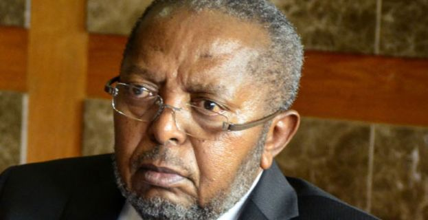 The governor Bank of Uganda Prof. Emmanuel Mutebile
