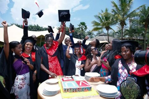Victoria University students celebrate completing their studies
