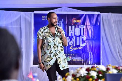 Ethan Kavuma won the Sanyu FM Hot Mic search. He won a cash prize of Shs3m and a job at the radio station
